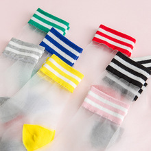 New for Women Socks Fashionable Transparent Mesh Silk Ultra-thin Crystal Lace Fabulous Elastic Funny