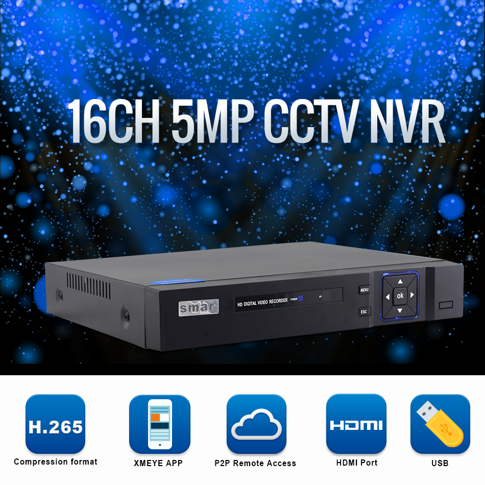 H.265 16CH 5MP CCTV NVR 8 Channel 4MP Network Video Recorder Onvif 2.3  for 5MP 4MP 1080P  IP Camera XMEYE P2P Cloud (1)