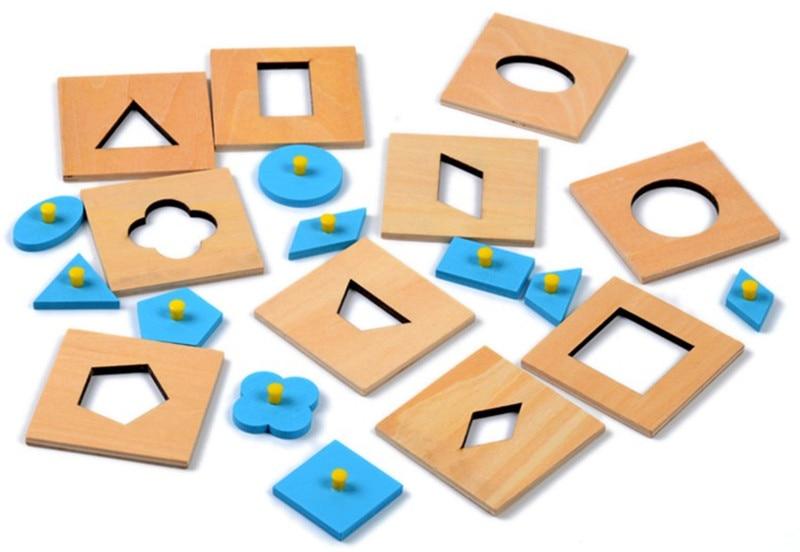 Nou jucărie de jucărie pentru copii Toy Montessori Insets Set / 10 - Jocuri și puzzle-uri