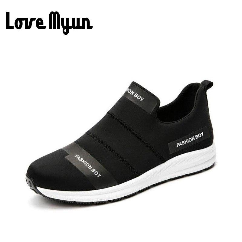 2017 brand New men spring fashion Breathable slip on shoes Stretch Fabric light shoes casual flats jogging loafers shoes WB-36 mebelvia beauty sleep via flex standart 160х190