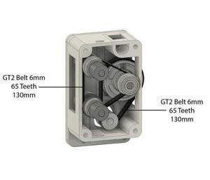 Image 5 - Belted Dual Stick zwei rad Starke und Stille Bowden Extruder kit für DIY Reprap UM ultimaker 3D drucker teile