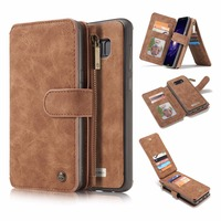 For Samsung S8 S8 Plus Wallet Case 2 In 1 Leather Flip Purse With Card Slots