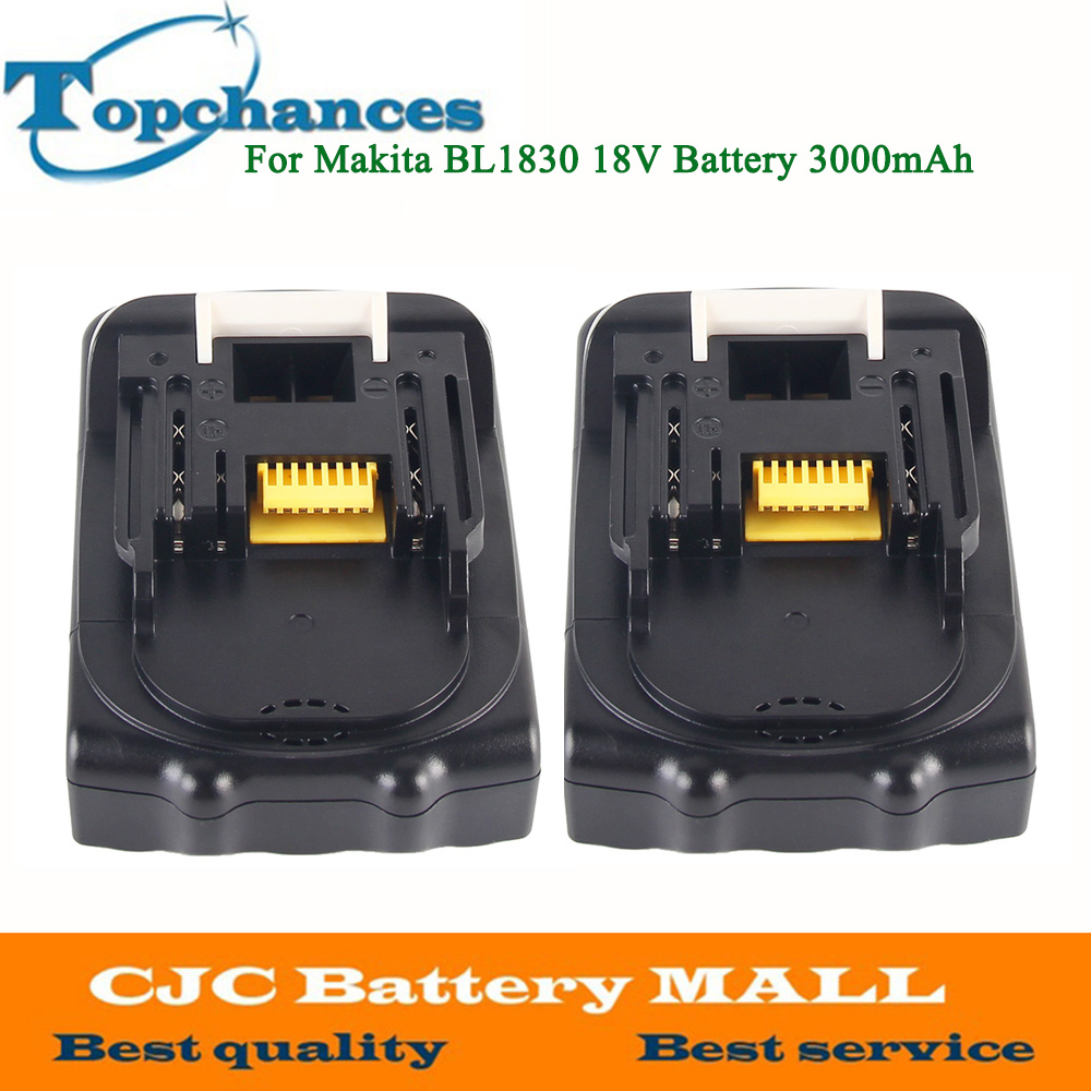 2PCS For Makita 18V Battery 3000mAh Rechargeable Lithium-ion Li-ion Power Tools Battery for Makita BL1830 BL1835 BL1815 18v 6000mah rechargeable battery built in sony 18650 vtc6 li ion batteries replacement power tool battery for makita bl1860