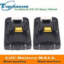 2 шт. для Makita 18 В Батарея 3000 мАч Перезаряжаемые литий-ионный Мощность инструменты Батарея для Makita BL1830 BL1835 BL1815