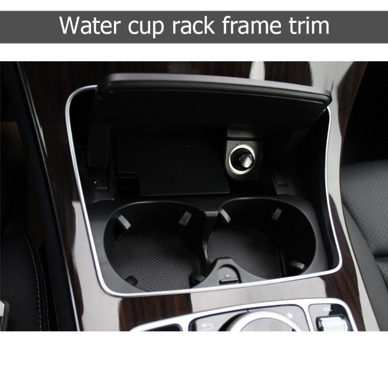 Autocollant de garniture de cadre de support de verre de voiture pour Mercedes Benz classe C W205 classe GLC W253 2015-2018 accessoires de style intérieur automatique - 4