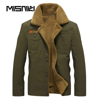 MISNIKI 2018 Warm Spring Autumn Military Jacket Men Casual Stylish Fleece Tactical Men Coat For Warm