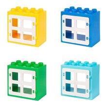 Duploe Casa Castelo Castelo Brinquedos Janela Modelo de Blocos de Construção Tijolos Criativo DIY Brinquedos Educativos Presente Para O Miúdo