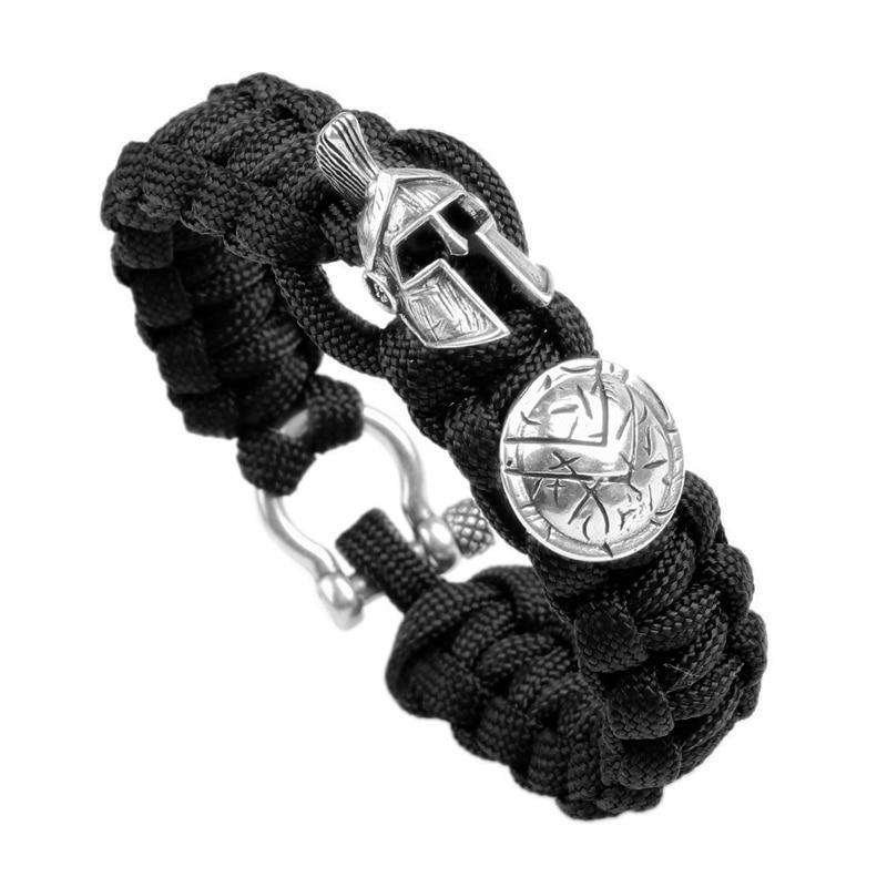 Men Bracelet/Sparta/Pulseira Masculina/luxury Camping Outdoor Survival Handmade Rope Bracelets Bangles Vintage Women Bracelets