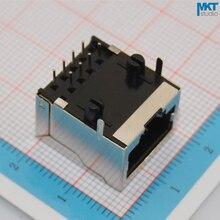 100 cái 58 Loạt Đồng Nữ 10P8C Kim Loại RJ45 PCB Ethernet Mạng Modular Ổ Cắm Nối Đối Với RJ45 Cắm Jack