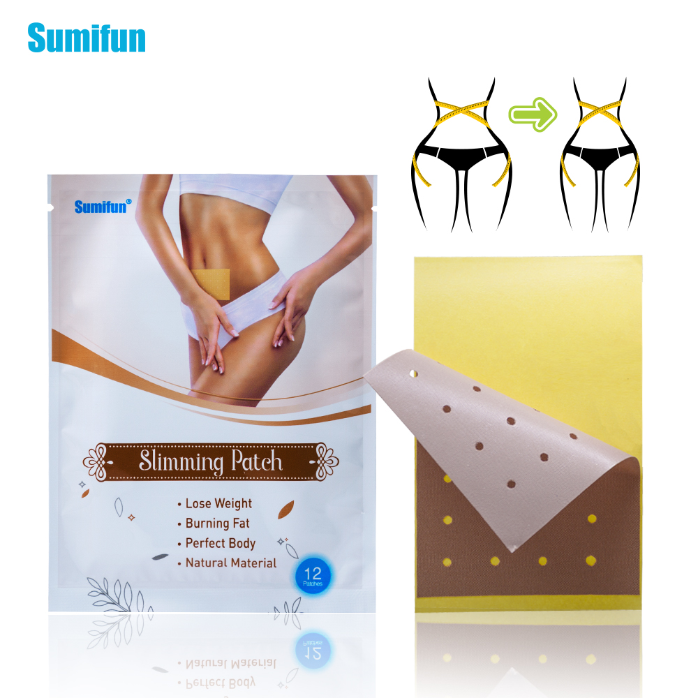 60Pcs=5bags Weight Lose Paste Navel Slim Patch Health Care Slimming Patch