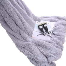 Adults Fluffy PV Plush Fleece Throw Blanket Solid Grey Pink Winter Bed Blankets Twin Full Size Home Decor Imitated Wool