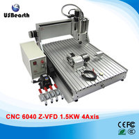 3D CNC Router 6040 1 5kw Water Cooled Woodworking Machine For Hard Metal