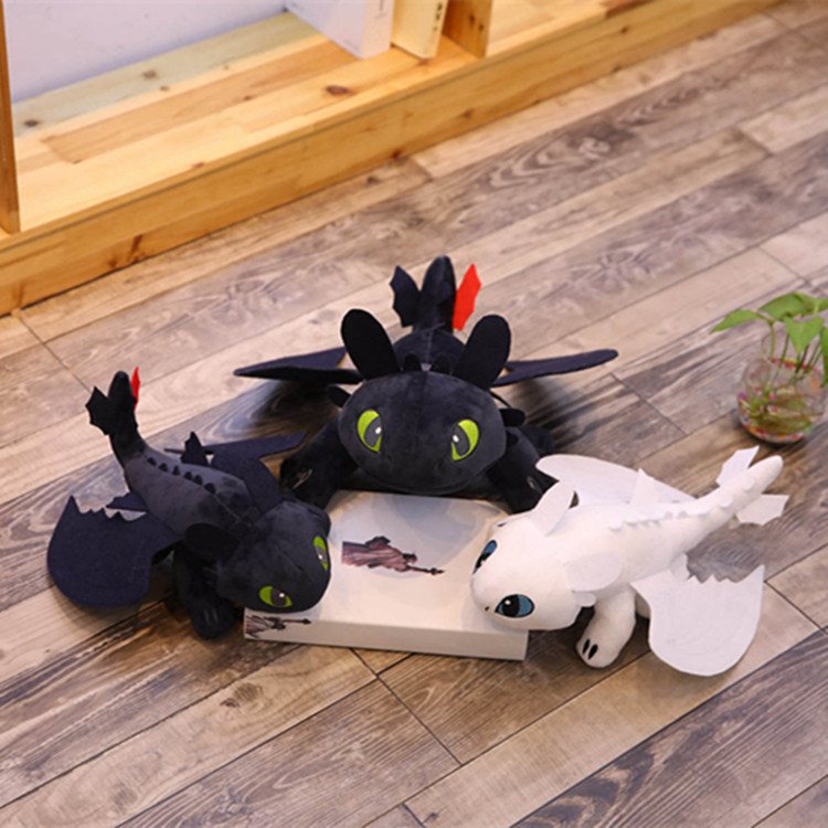 25cm How To Train Your Dragon 3 Toothless Light Fury Anime Figure Night Fury Dragon Plush Doll Toys For Children