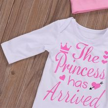 Newborn Baby Girls Long Sleeve Romper Coming Home Outfit Set