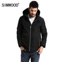 SIMWOOD New 2018 Spring Winter Men Outerwear Plus Size Polyester Thin Fashion Jacket Men Parka Spring