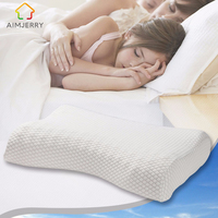 Aimjerry Memory Foam Pillow Bed Cervical Orthopedic Pillow Sleeping Bedding Wave Curve Shaped Pillows Neck Head