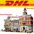 City Creator LEPIN 15003 Town Hall 15005 Grand Emporium Lepin 15009 Pet Shop Building Model Blocks Set Set Toys
