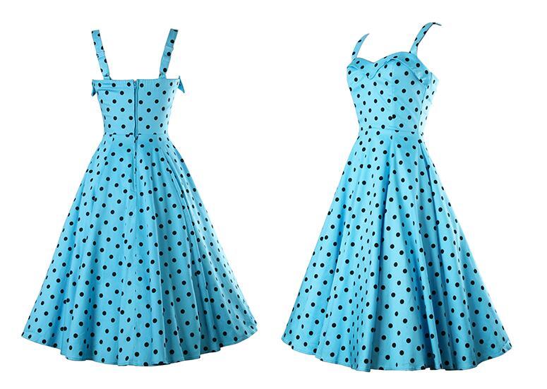 Sky Blue and Black Dress
