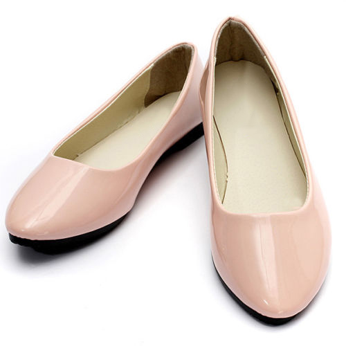 TEXU NEW Womens Ladies Flat Ballerina Ballet Casual Loafers Slip on Shoes, Pink womens ballet flats slip on faux leather solid ballerina shoes for women casual comfort autumn ladies loafers shoes wholesales