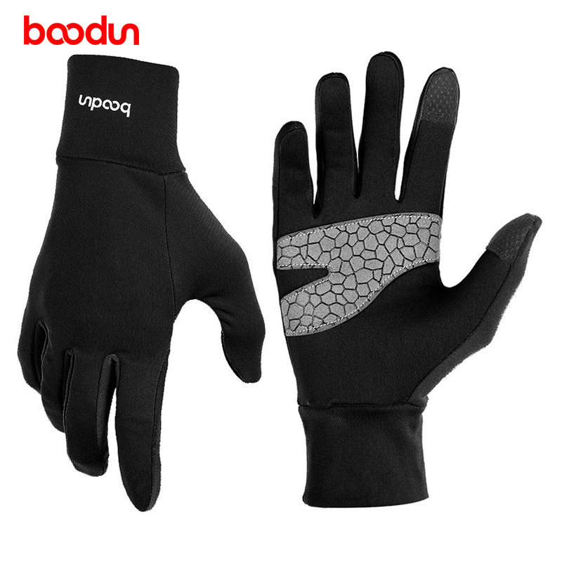 Boodun Bike Gloves Winter Thermal Warm Full Finger Touch Screen Cycling Gloves Anti-Slip Outdoor Sports Bicycle Snow Gloves