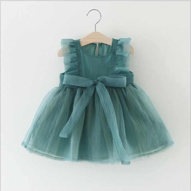 Baby Girls Dress  Kids Baby Fancy Birthday Mesh Dress Infant Sleeveless Party Dress Baby Dress Summer for 0-3y Birthday Girl