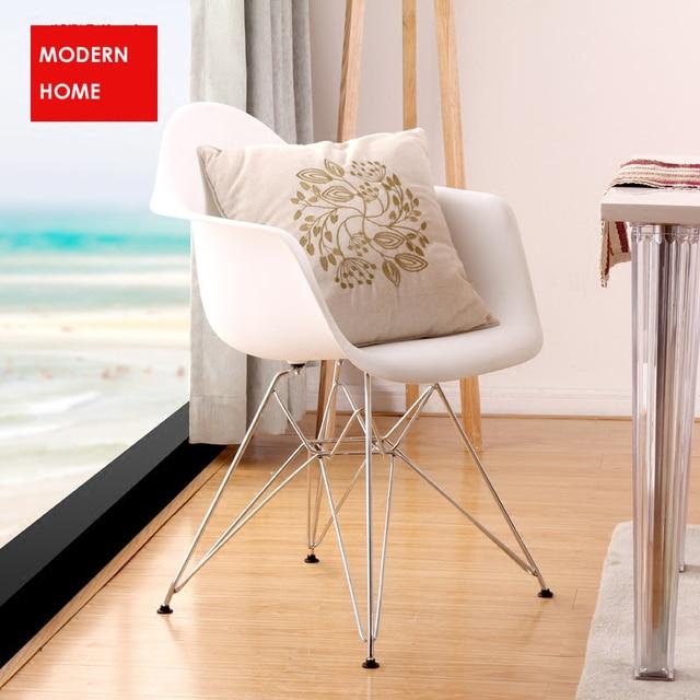 Beliebte Modernes Design Esszimmer Sessel/Kunststoff Und Metall Stahl Bein  Esszimmerstuhl/Moderne Mode