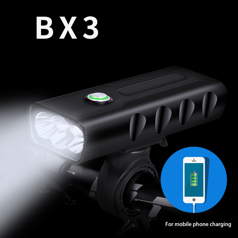 BX2/BX3 USB Rechargeable Bike Light Front Handlebar Cycling Led Light Battery Flashlight Torch Headlight Bicycle Accessories