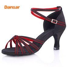 Hot selling Women Professional Dancing Shoes Ballroom Dance Ladies Latin heeled 5CM/7CM