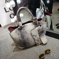 Famous Designer Purses and Handbags 2016 Winter Woman Snakeskin Grain Handbag Fashion PU Leather Shoulder Aslant Top-handle Bags