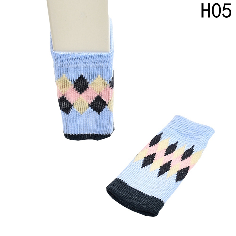 4pcs/set New Cotton Furniture Leg Socks Chair Table Leg Protector Pads Anti-slip Chair L ...