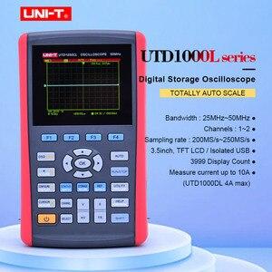 """Image 1 - UNI T UTD1025CL راسم الذبذبات الرقمية المحمولة 3.5 """"LCD شاشة ديجيتال راسم الذبذبات مقياس السيارات بالكامل مع المتعدد"""
