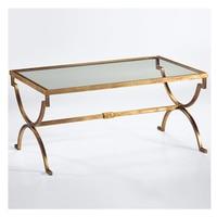 Американский Сельский Nordic аппаратного искусства закаленное стекло чайный столик. Прямоугольный журнальный столик