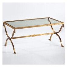 Американский сельский Nordic искусство оборудование закаленное стекло, чайный столик. прямоугольный журнальный столик