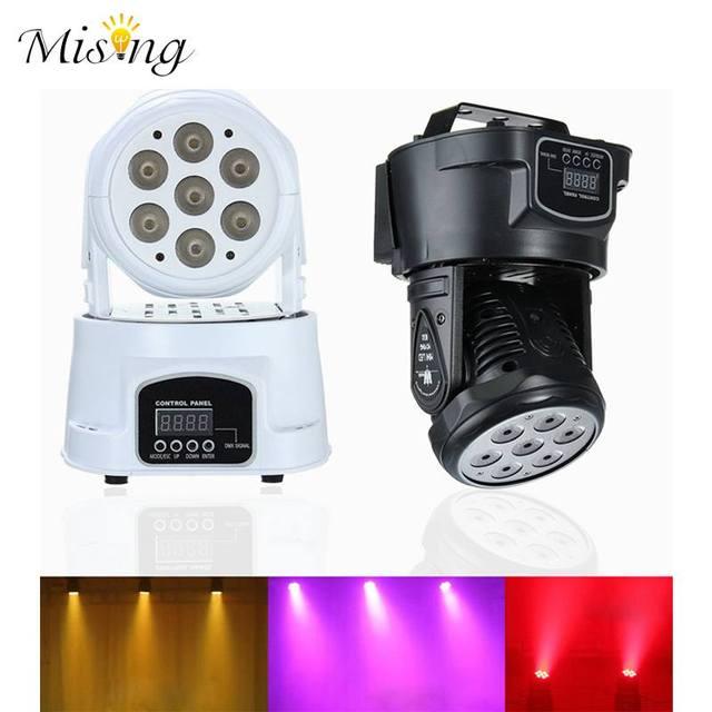 10W RGBW 7 LED DMX512 Stage Light Effect Laser Lighting Moving Head Lamp DJ Club KTV Disco Christmas Decor AC100V-240V