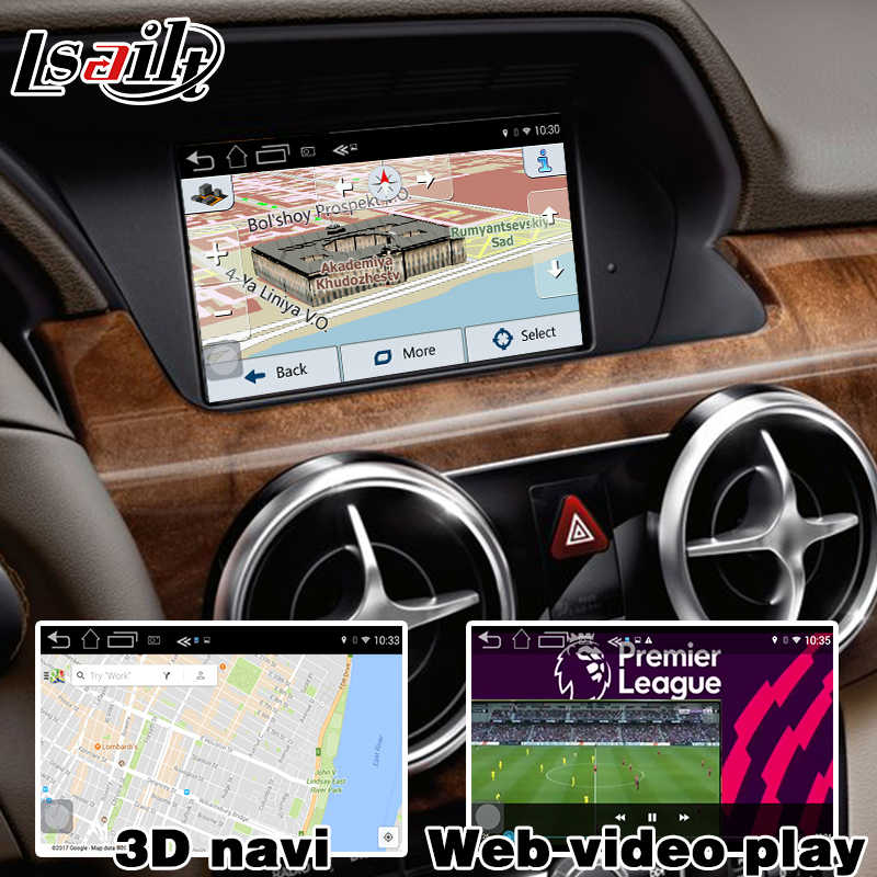Android 6 0 GPS navigation box video interface for Mercedes benz C Class  W204 NTG 4 5 COMMAND AUDIO20 waze youtube carplay