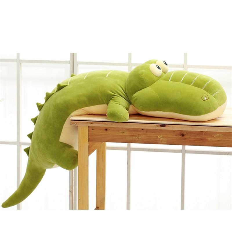 Lazada 26'' Crocodile Plush Pillow Super Soft Stuffed Animal Cushion Best Gifts For Kids Children Boys Room Decor