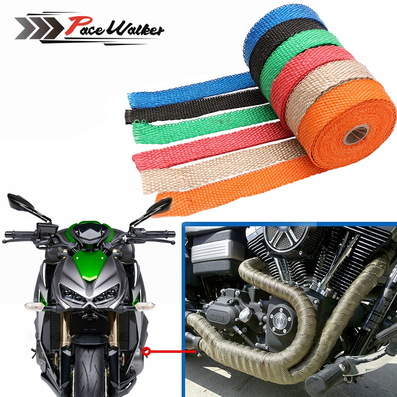 Exhaust-Wrap-Tape Turbo-Manifold-Heat MOTORCYCLE Thermal-Stainless-Ties CAR Incombustible
