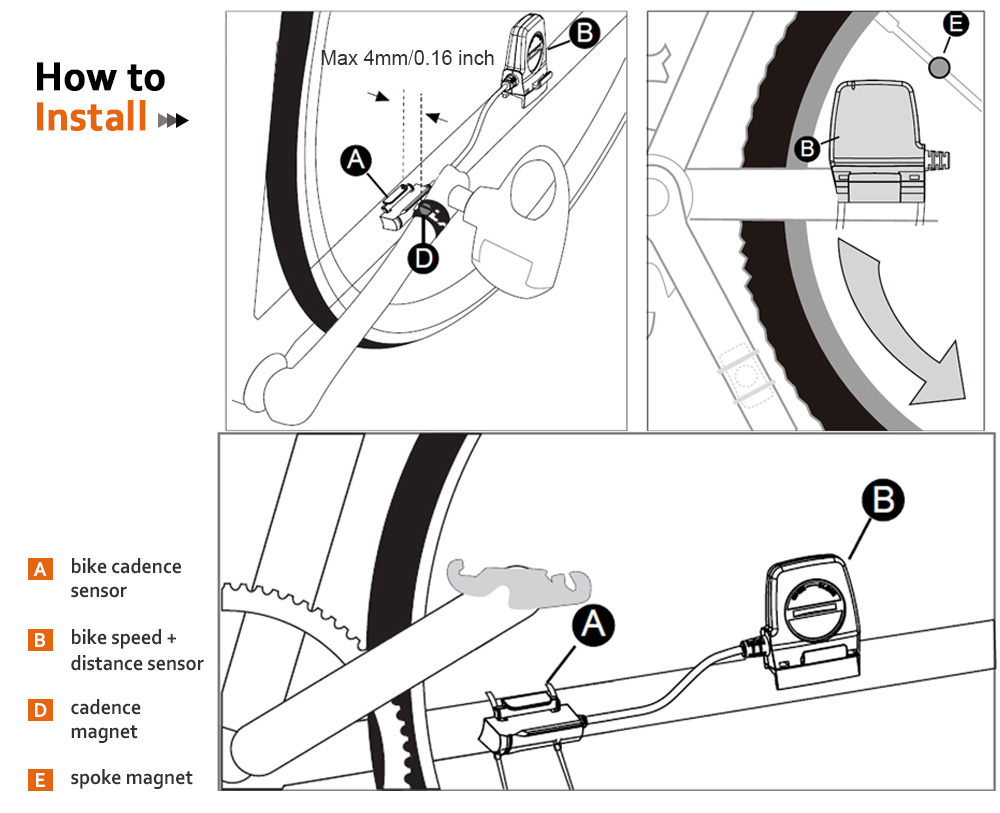 Bicycle Cadence Sensor Wireless Transmission Bryggen Ant
