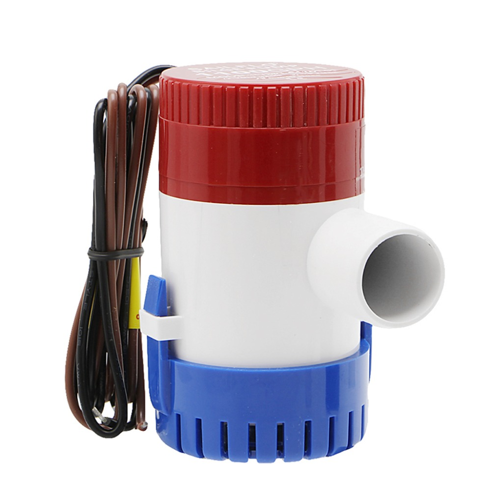 500GPH 12V Non automatic Marine Electric Submersible Bilge Pump Pumps Parts Accessories in Pump Replacement Parts from Home Improvement
