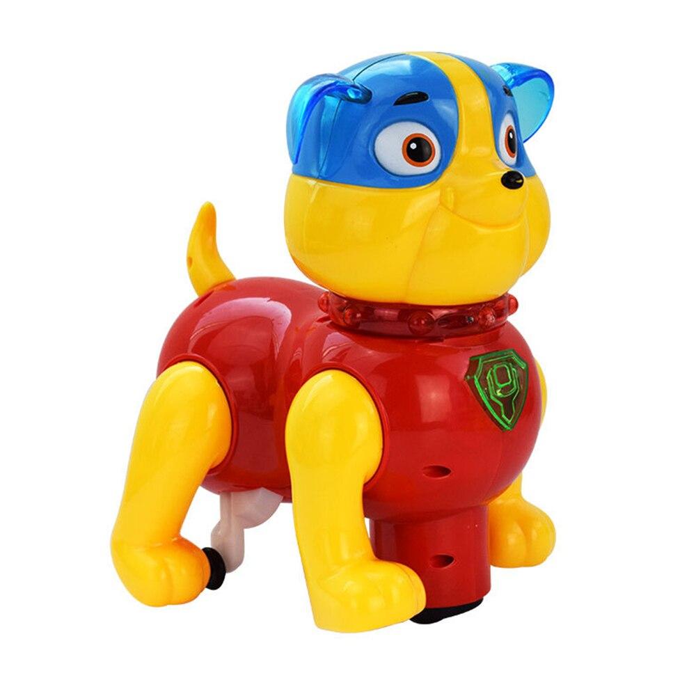 Милая имитация игрушки для собак пластиковая эмультационная игрушечная электронная собака для новеллы Прямая - Цвет: chromatic
