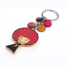 1PC Vintage Fashion Wooden Key Chain Car Key Holder Lovely Girls Key Ring Keychains For Women Jewelry Gift K418