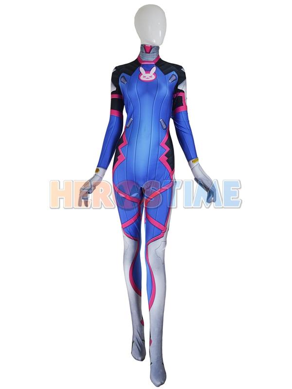 Zakázková výroba D Va Costume Lycra Spandex tisk D. Va Cosplay kostým ženského / ženského superhrdina cotum ve videohře