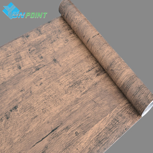 45cmx5m old furniture wood pattern stickers vinyl self adhesive wall decals wardrobe door decorative film pvc
