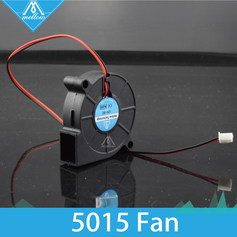 2 Pcs/lot 3D Printer Fan 5015 12V/24V 0.15A Sleeve Bearing Brushless For Reprap  I3 DC Cooling Fan Turbo Fan 5015S