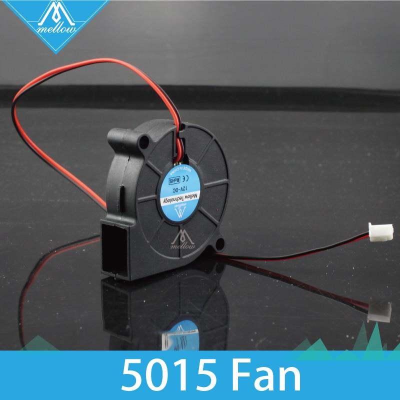 2 pcs/lot 3D Printer Fan 5015 12V/24V 0.15A Sleeve Bearing Brushless for Reprap i3 DC Cooling Fan Turbo fan 5015S 2 pcs mini cooling fan 50mmx50mmx15mm 3d printer parts 5015 radial turbo blower fan dc 12v cooling fan for 3d printer