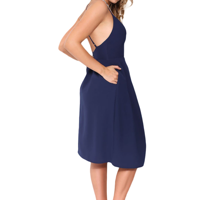 Casual Evening Party Midi Dresse