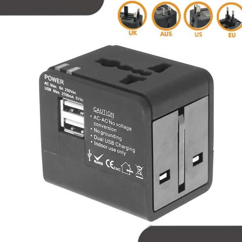 International Plugs Sockets Adapter Converter USB Charging Travel Socket Plug Power Charger Multi-country converter
