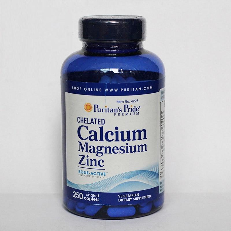 Calcium Magnesium Zinc 250 Pcs Free Shipping genuine 2 boxes tien nutrient super calcium tien s super calcium