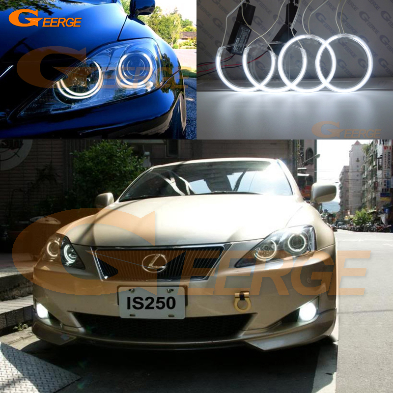 Untuk Lexus IS220 IS250 IS350 IS-F 2006 2007 2008 2009 2010 Angel Eyes Sangat Baik Penerangan Ultra terang ccfl angel eyes kit