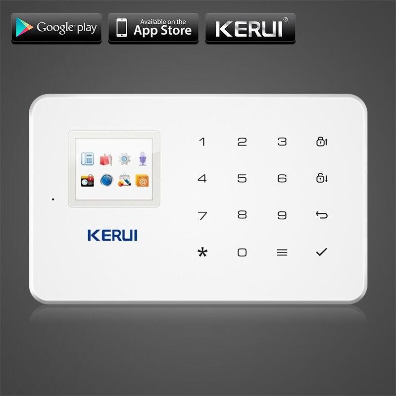 KERUI G18 GSM Sécurité À La Maison Système D'alarme Intégré Antenne D'alarme Anroid IOS App Télécommande Basse-tension Rappeler Alarme